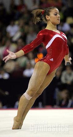 Alicia Sacramone (United States) on floor at the 2008 U.S. Olympic Trials