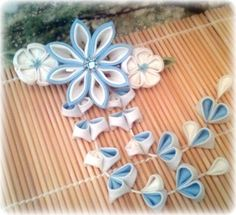 Hey, I found this really awesome Etsy listing at https://www.etsy.com/listing/190497984/winter-innocence-japanese-kanzashi-clip