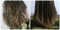 Antes e Depois de uma selagem Anti volume! Não alisa! Indicada para cabelos com volume e com frizz! Foto da direita o cabelo foi lavado após o procedimento e seco apenas com ar do secador sem escovar! Consulte valores! Whatsapp (11) 95797-0710 Michele Luz