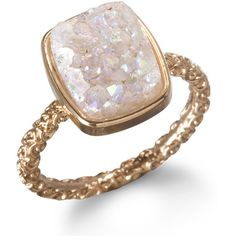 Dara Ettinger Nadia Stackable Druzy Ring, Halo (120 CAD) ❤ liked on Polyvore featuring jewelry, rings, accessories, anillos, anel, dara ettinger rings, stackable rings, dara ettinger jewelry, druzy jewelry and dara ettinger