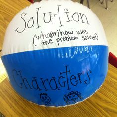 I LOVE this idea! I can use beach balls for all kinds of literature elements... plot, character, setting, theme, etc.! Love this idea :)