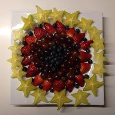 New Year's fruit platter.