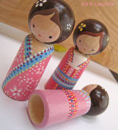 cute peg dolls