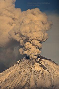 Eruption - Popocatepetl Volcano, Puebla, Mexico