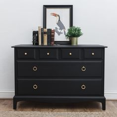 home sweet home Stag Minstrel 4 Over 2 Chest Of Drawers Safety Lighting Stag Furniture, Black Painted Furniture, Upcycled Furniture, Bedroom Furniture, Modern Furniture, Bedroom Decor, Painted Dressers, Plywood Furniture, Furniture Ideas