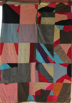Gorgeous CRAZY STRIP Antique Vintage Quilt by AntiqueQuiltRevival adb9b5ffb