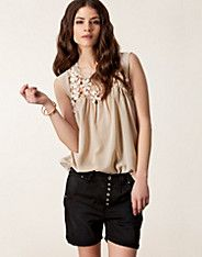 Agathe Lace Top - Fornarina - Rose - Paidat - Vaatteet - NELLY.COM