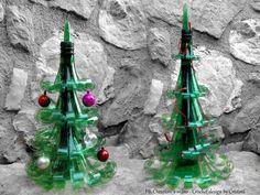 albero di natale riciclo bottiglie di plastica   #xmas #decorations #diy…