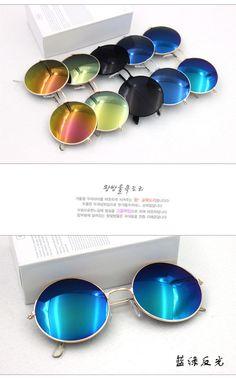 awesome Hot Vintage Round lens Sunglasses Men/women Polarized Gafas Oculos Retro Coating Sun Glasses Round 50622001A
