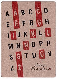 """Pastkarte """"Latviešu alfabēts"""""""