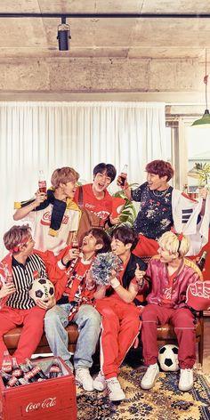 bts x coca cola Seokjin, Namjoon, Jhope, Kookie Bts, Bts Bangtan Boy, Bts Taehyung, Foto Bts, Bts Official Light Stick, Bts Group Photos