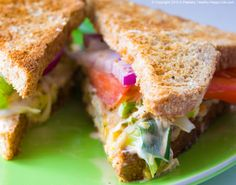 Chickenless Salad Sandwich. Lunch Bliss!