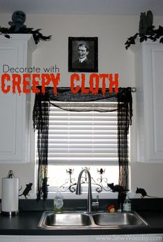 How to decorate your house this Halloween. Check out creative and spooky ideas to decorate your kitchen. Source by ideas design Halloween Kitchen Decor, Diy Halloween Decorations, Halloween House, Spooky Halloween, Halloween Ideas, Halloween Party, Happy Halloween, Spooky Decor, Halloween 2020