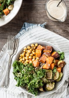 Autumn Nourish Bowls. This is delicious and the dressing is wonderful.
