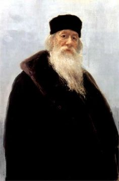 Portrait of the Art Critic Vladimir Stasov, 1900  Ilya Repin [The real life Dumbledor!!!{