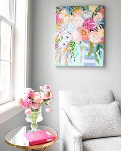 Tango Tango - C. Brooke Ring - Original Fine Art - Floral Painting - Colorful Home Decor - Perfect decor for any space!