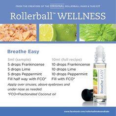 Breathe Easy essential oil roller bottle blend