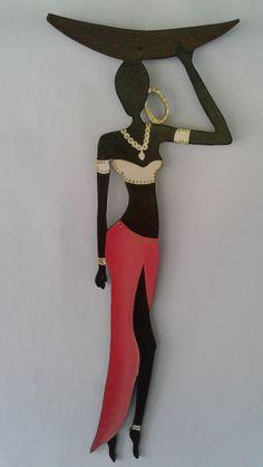 Tribal Art Canvas Print / Canvas Art by Kalyani Badwaik African Girl, African American Art, African Women, Black Girl Art, Black Women Art, Art Girl, Arte Tribal, Tribal Art, Afrique Art