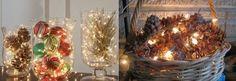 Adventsgesteck und Weihnachtsdekoration mit einem LED Licht dekorieren!