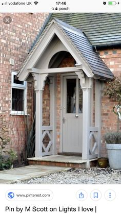 Best front door porch canopy house ideas – My World Cottage Front Doors, Front Door Porch, Cottage Porch, Front Door Entrance, Front Entrances, Front Door Canopy, Garage Entry, Front Porches, Cottage Windows