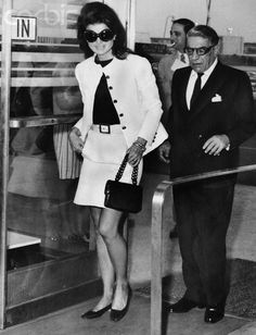 Jackie Kennedy and Aristotle Onassis, June 5, 1969, at Kennedy Airport, New York. The couple had been married less than a year.