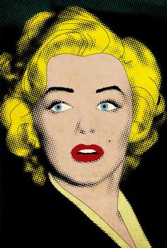 Marilyn Monroe, Icon, Film Star, Hollywood, Art, Style, Yellow Roy Lichtenstein Art Marilyn
