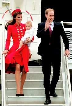 The Cambridges. — The Duke and Duchess of Cambridge with Prince...