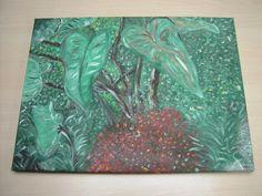 """SOLD ! """"IL GRANDE GIARDINNO"""" Acryl schilderij - Eigen werk-Own work ! Made by MIK (miek de keyser - Ranst - Belgium)"""
