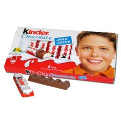 Kinder in German means children and bueno is Spanish for good. Kinder Chocolate is a set of 6 individually wrapped fine chocolate bars with a milky filling. Chocolate Hazelnut, Best Chocolate, Chocolate Bars, Chocolate Sticks, Kind Bars, Easy Smoothie Recipes, Cinnamon Cream Cheese Frosting, Pumpkin Spice Cupcakes, Black Sesame Ice Cream