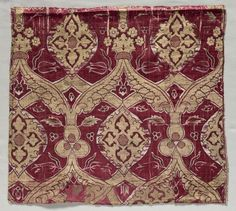 Ottoman Textile Fragment.  Late 16th Cent.  (Cleveland Museum of Art)