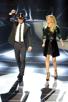 Tim McGraw and Faith Hill kick off a series of shows at the Venetian in Las Vegas on Dec. 8, 2012.  Photo Credit: Jeff Bottari/Getty Images