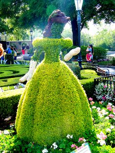 "disney-boy: "" Belle's Topiary on Flickr. """