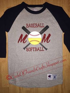 Photo on Circle of Friends Crafts: Baseball softball Mom Shirt Sports Mom Shirts, Softball Mom Shirts, Softball Crafts, Baseball Shirts, Softball Stuff, Baseball Tshirt Ideas, Baseball Stuff, Baseball T Shirt Designs, Softball Jerseys