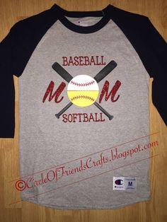 Photo on Circle of Friends Crafts  Baseball softball Mom Shirt Sports Mom  Shirts 5a630af2e4eb