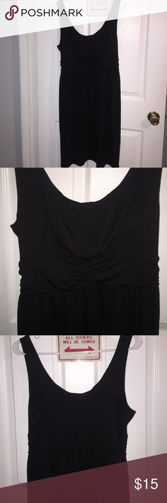 Empire waist black sundress Light and comfy. Knee legnth. Empire waist very flattering. Not maternity but I wore my entire pregnancy and it fit perfectly and was very comfortable Dresses Midi