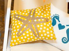 DIY Starfish Pillow with Iron-On. Make It Now in Cricut Design Space