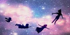 This would be a nice Twitter banner. Love the galaxy & the Peter Pan