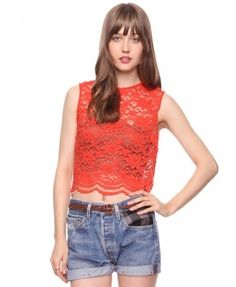 Scalloped Lace Top - StyleSays