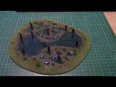How to make stylised wargaming swamp terrain - YouTube