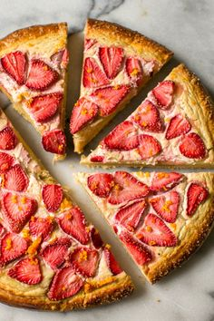 Strawberry Brown Sugar Brioche Tart