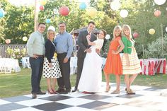 Family photo at Wedding Carnival  @yourhomebasedmom.com