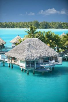 The St. Regis Bora Bora Resort—Premium Over Water Villa (by St. Regis Hotels and Resorts) Motu Ome'e BP 506 Bora Bora, 98730 French Polynesia Bora Bora Resorts, Hotels And Resorts, Vacation Destinations, Dream Vacations, Vacation Spots, Italy Vacation, Romantic Vacations, Romantic Travel, Oh The Places You'll Go