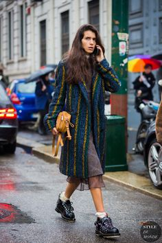 Milan Fashion Week FW 2016 Street Style: Chiara Totire - STYLE DU MONDE | Street Style Street Fashion Photos
