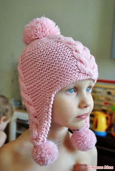 Letters and Arts of Lalá: Children's hats and scarves NO recipes (photos: googl . - Anita Anna - - Letters and Arts of Lalá: Children's hats and scarves NO recipes (photos: googl . Baby Cardigan Knitting Pattern, Baby Hats Knitting, Knitting For Kids, Baby Knitting Patterns, Children's Knitted Hats, Crochet Kids Hats, Crochet Beanie, Crochet Baby, Knit Crochet