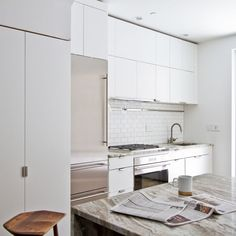Brooklyn row house kitchen by Office of Architecture.