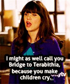 zoey Deschanel... best quote of the whole show... that movie is the most depressing thing ever!!