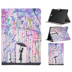 11.40$  Watch now - http://alipoe.shopchina.info/go.php?t=32481519796 - For Samsung Galaxy Tab A 8.0 T350 T351 SM-T355 Flower Painting PU Leather Case Cover Tablet Protective Cases Y5C19D  #buyonlinewebsite