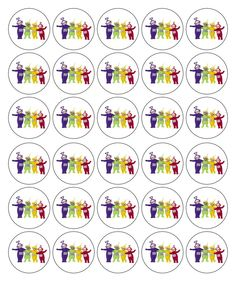 Teletubbies pins 3rd Birthday, Birthday Ideas, Birthday Parties, Cupcake Icing, Cupcake Toppers, Teletubbies Cake, Party Printables, Free Printables, Little My