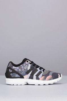 Adidas Originals Sneakers noires imprimées héron Zx Flux W