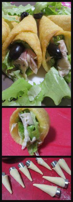 Coni di polenta con carpaccio di coniglio , troppo sfiziosi ! #polenta #coniglio #conipolenta #ricettegustose